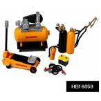 HOBBYGEAR 1/ 24 Mechanic 2 (コンプレッサー、フロアージャック、バッテリー、溶接トーチ他)(HB16059)ミニカー関連 返品種別B