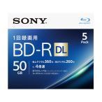 ソニー 4倍速対応BD-R DL 5枚パック 50GB ホワイトプリンタブル 5BNR2VJPS4 返品種別A