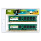 シリコンパワー PC3-12800(DDR3-1600)240pin DDR3 SDRAM DIMM 8GB(4GB×2枚) SP008GBLTU160N22JB 返品種別B