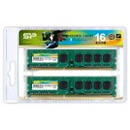 シリコンパワー PC3-12800(DDR3-1600)240pin DDR3 SDRAM DIMM 16GB(8GB×2枚) SP016GBLTU160N22JB 返品種別B