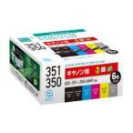 エコリカ キヤノン用リサイクルインク (6色パック) ECI-C351-6P 返品種別A