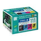 エコリカ ブラザー用リサイクルインク(4色セット) LC111-4PK対応(LC111BK、LC111C、LC111M、LC111Y) ECI-BR111-4P 返品種別A