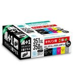 エコリカ キヤノン用リサイクルインク(6色パック) ECI-C351XL6P+BK 返品種別A