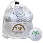 飛衛門 公認球ゴルフボール12球(ホワイト) 1ダース TOBIEMON メッシュバッグ入り TBM-2MBW 返品種別A