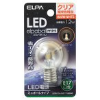 ELPA LED電球 ミニボール電球形 45lm(クリア・電球色相当) elpaballmini LDG1CL-G-E17-G246 返品種別A
