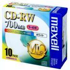 マクセル データ用4倍速対応CD-RW 10枚パック 700MB ホワイトプリンタブル CDRW80PW.S1P10S 返品種別A