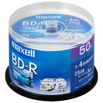 AV影音器材, 相機 - マクセル 4倍速対応BD-R 50枚パック 25GB ホワイトプリンタブル BRV25WPE.50SP 返品種別A