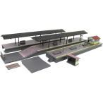 グリーンマックス (再生産)(N) 2565 ローカル型島式ホームセット ブラウン (ホーム部200mm、スロープなど) 返品種別B