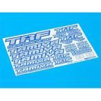 タミヤ (TRFパーツ) TRFステッカーC (ブルーエッジ/ ミラー) (42237)ラジコン用 返品種別B