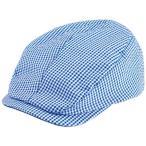 キャスコ サッカーギンガムハンチングキャップ(ホワイト×サックス・サイズ:フリー 56cm〜59cm) Kasco 帽子 GKHC-1952 WH/ SX 返品種別A
