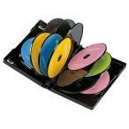 サンワサプライ DVDトールケース(12枚収納・3枚パック・ブラック) DVD-TW12-03BK 返品種別A