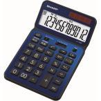 シャープ 卓上電卓 12桁(ディープブルー) 50周年記念モデル EL-VN82-AX 返品種別A