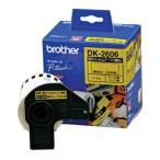 ブラザー P-Touch用・DKテープ 長尺フィルムテープ 黄/ 黒文字 幅62mm×15.24m巻 DK-2606 返品種別A