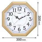 ランデックス 電波掛け時計(金閣)八角電波掛け時計 金閣 YW9145GD 返品種別A