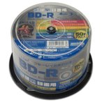 HIDISC 6倍速対応BD-R 50枚パック 25GB ホワイトプリンタブル ハイディスク HDBDR130RP50 返品種別A