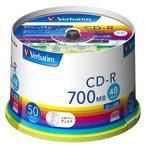 バーベイタム データ用48倍速対応CD-R 50枚パック 700MB シルバーレーベル SR80FC50V1 返品種別A