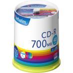 バーベイタム データ用48倍速対応CD-R 100枚パック700MB ホワイトプリンタブル Verbatim SR80FP100V1E 返品種別A