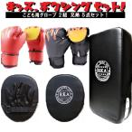 子供用 パンチング グローブ 2組 ミット 5点 兄弟 セット 炎 キッズ ボクシング ボクササイズ トレーニング 格闘技 ファイアー