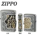 ショッピング柄 ZIPPO フレームパイソンメタル クロス