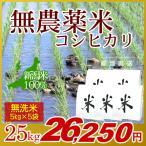 無農薬米 コシヒカリ 無洗米 25kg(5kg×5袋)/アイガモ米 自然栽培米 新潟米