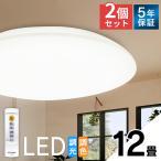 シーリングライト LED 2台セット  照明 12畳 調色 5200lm CL12DL-5.0 アイリスオーヤマ (あすつく)