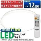 シーリングライト LED 12畳 アイリスオーヤマ リビング 天井 照明 器具 調光 調色 リモコン CL12DL-5.0