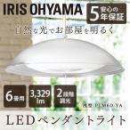 ペンダントライト LED 洋風 洋室 リビング ダイニング 照明 浅型 6畳 調光 PLM6D-YA アイリスオーヤマ メタルサーキットシリーズ 一人暮らし おしゃれ 新生活