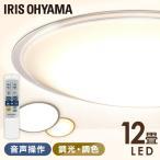 シーリングライト LED 12畳 音声操作 調光 調色 LEDシーリングライト 天井照明 照明 スピーカー おしゃれ クリアフレーム CL12DL-5.11CFV アイリスオーヤマ