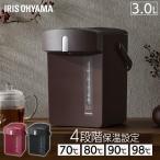 Yahoo!JOYライト電気ポット 保温 アイリスオーヤマ ジャーポット おしゃれ かわいい 3.0L ブラック IAHD-030-B