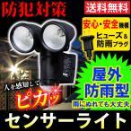 アウトレット センサーライト 人感センサー 屋外 コンセント式  防犯灯 防犯ライト 照明 SEL-N102TS 人気