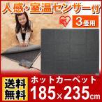 (在庫処分)\数量限定/ 人感・室温センサー付ホットカーペット3畳用 JSHC-3H アイリスオーヤマ