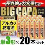 アルカリ乾電池 BIG CAPA 単3形20本パック アイリスオーヤマ【メール便】
