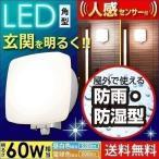 玄関照明 玄関灯 外灯 60W相当 LED LEDポーチ灯 玄関ライト 人感センサー付 角型 アイリスオーヤマ