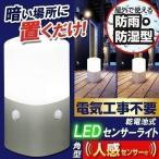 センサーライト 屋外 ガーデンライト LED 防雨 防水  照明 スタンドタイプ 角型 昼白色・電球色 OSL-MN2K-WS アイリスオーヤマ