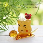 ガラス細工 ミニチュア 雑貨 置物   昔話シリーズ・サルカニ合戦!