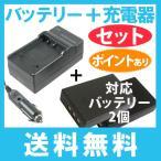 送料無料 定形外郵便 リチウムイオン電池2個と充電器お得セット