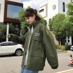 バックロゴ刺繍フルジップアップジャケット  ウィンドブレーカー コーチ 韓国  オルチャン  原宿系 K-POP HIPHOP ダンス 衣装 アメカジ ゆったり  AU-516