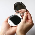 手鏡・ハンドミラー コンパクトミラー マーガレット 螺鈿 朱