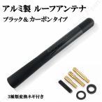 アルミ製12cmブラックカーボン色と黒メタリック色タイプのカーラジオアンテナ変換付き