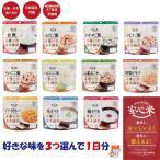 非常食 備蓄食 長期5年保存 アルファー食品 安心米 選べる3食セット 1日分 送料無料