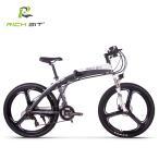 RICHBIT TOP880 初秋発売 新型次世代型スポーツタイプ 折りたたみ26インチ 電動アシスト自転車 3色(グレー)