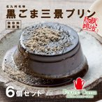 お中元 ギフト 2020 フカツコーヒー 黒ごま三景プリン 6個セット 北九州名物 冷凍