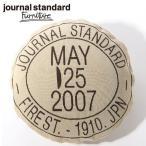 journal standard Furniture ジャーナルスタンダードファニチャー Knitchy×JSF スタンプロゴクッションカバー ベージュ ポイント10倍