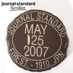 journal standard Furniture KNITCHY JSF STAMP LOGO CUSHION COVER BROWN
