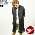 アーメン/ARMEN ユーティリティバンドカラーロングシャツ コットンガーゼワンピース UTILTY BANDED COLLAR LONG SHIRTS INAM1902GD レディース