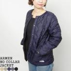 2020AW アーメン/ARMEN ナイロン×フリースノーカラージャケット キルティングジャケット NAM1851 レディース