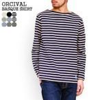 オーシバル/オーチバル/ORCIVAL コットンロードバスクシャツ ボーダー無地長袖Tシャツ COTTON LOURD BASQUE SHIRT B211 メンズ