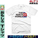 おもしろTシャツ メンズ ノースフェイス パロディ 北朝鮮柄 キムジョンウン プレゼント 誕生日 大きいサイズ XXL