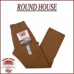 ショッピングダンガリー ROUND HOUSE ラウンドハウス USA製 ブラウンダック ダブルニー ペインターパンツ Lot2202