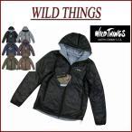 ショッピングナイロン WILD THINGS ワイルドシングス リバーシブル プリマロフト フーデッド ジャケット WT001N
